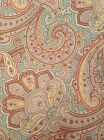 New! Ralph Lauren Paisley Tablecloth - Teal, Red, Yellow - Water Repellent