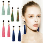 Retro Ethnic Style Star Long Tassel Dangle Earrings Women Party Earrings Jewelry