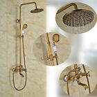 Antique Brass Bathtub Shower Faucet Set