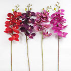 "WHOLESALE 90CM 35"" 7 HEADS PU COATING REAL TOUCH ARTIFICIAL ORCHID SILK FLOWER"
