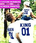 Kyпить King and Queen Prince Couple matching Cute T-shirts Two Sides Print Street Punk на еВаy.соm