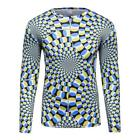 Logas Men's Animated and 3D Printing T-Shirt Tops Long Sleeve Cycling Jersey