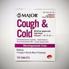Cough & Cold Relief for people with High Blood Pressure (generic Coricidin) 16ct $6.25 USD on eBay