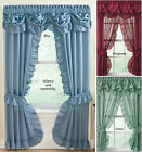 Blue Ruffled Priscilla Curtain Panel
