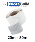 20m - 80m AQUA BUILD elastic self-adhesive fleece BUTYL Waterproof Tanking Tape