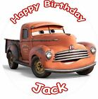 "SMOKEY CARS 3 2017 ROUND 7.5""  CAKE TOPPER ICING OR RICEPAPER"