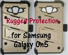 Rugged Case, Holster, Tempered Glass Screen Protector for Samsung Galaxy On5