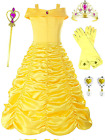Romy's Collection Princess Belle Yellow Party Costume Dress-Up Set