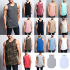 Victorious Men's Basic Long Length Curved Hem Tank Top Sleeveless T-SHIRTS -TT47 image