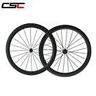 50mm Tubular carbon bike wheels 23mm Width  road racing wheelset