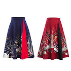 Women Swing Skirts Chiness Style 2 Colors Retro Vintage Style Elegant Dress
