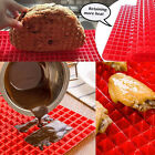 Pyramid Pan Fat Reducing NonStick Silicone Cooking Mat Oven Baking Tray More bt