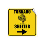 Tornado Shelter With Right Arrow Hazard Emergency LABEL DECAL STICKER