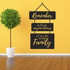 Remember as far as anyone knows we're nice normal Family - Wall Quote, Wall Art