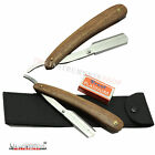 Wooden Shaving Shavette + Blades Straight Cut Throat Shaving Razor Barber Salon