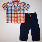 CARTER'S INFANT BOYS 2 PC PANT & SHORT SLEEVE SHIRT SET NWT  SIZE 6 MONTHS