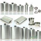 British Stainless Steel Hip Flask Liquor Holder Whiskey Bottle Pocket Funnel