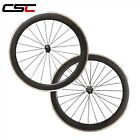 CSC 700C Carbon Road Cycling Wheel 23mm Wide 60mm Clincher Alloy Braking Surface