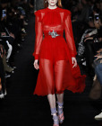 2017 occident autumn red runway perfect lively makings pretty dress S~XL