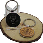 Cannabis and Coffee Keyring Wooden & Silver Custom Personalised  Engraved Weed