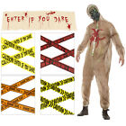 Smiffys Zombie Biohazard Halloween Fancy Dress Costume Or Warning Tapes & Banner