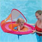 Swim Ways Baby Spring Float with Sun Canopy Orange & Pink Butterfly Design