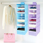 1* 9 Layers Multifunctional Storage Hanging Box Oxford  Cloth Storage Bag