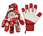 Brand New Professional Soccer Football Goalkeeper Gloves finger save Camo Red