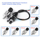Pressure Transducer or Sender Stainless Steel 0-4.5V For Oil Fuel Air Water coi