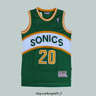 Gary Payton Seattle SuperSonics Green #20 Basketball Jersey Mens Payton