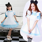 Parent-child Cosplay Alice in Wonderland Lolita Maid Outfit Party Dress Apron