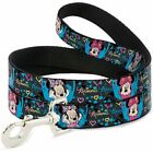 Dog Leash -Minnie Mouse Hoody & Headphone Poses Gray Multi Color