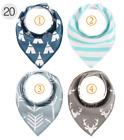4Pcs Infant Kids Baby Unisex Feeding Saliva Towel Dribble Triangle Bandana Bibs