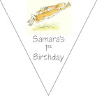 personalised card birthday party bunting 10 flags 3m GUESS HOW MUCH I LOVE YOU