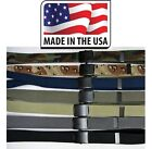 Web Belt Military Black Roller Buckle Cotton Army Navy Marine 1.25 USA Made 60""