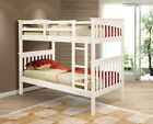 TWIN OVER TWIN BUNK BED - WHITE FINISH