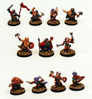 28mm Scale Pro-Painted Fantasy Dwarf Command-Characters Miniatures-Ganesha Games