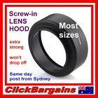 Strong Screw-in Metal CAMERA LENS HOOD shade hoods for Canon Nikon Sony Olympus