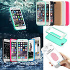 Waterproof Shockproof Hybrid Rubber TPU Full Case Cover For iPone 6s 7 8 Plus X