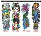 Extra Large Temporary Tattoos Long Full Arm Skull Flower Tattoo Stickers $1.98 USD