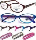 L374 Stylish Retro Patterns Graceful Womens Reading Glasses + Case/Spring Hinges