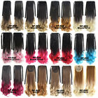 New Wave Ombre Two Tones Synthetic Hair Ponytail Drawstring Clip In Extensions