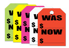 car mirror price - WAS / NOW $ Price - Jumbo Car Mirror Hang Tags Sale Pricing Signs (50 Per Pack)