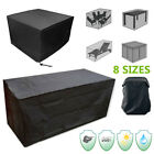 8 Size Waterproof Outdoor Furniture Cover Garden Shelter Table Chair Protector