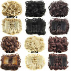 Curly Hair Bun Chignon Two Plastic Combs In Synthetic Hair Hairpiece 19Colors