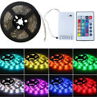 0.5-2m 5050 RGB SMD LED Flexible Strip Light Battery Powered Waterproof Remote