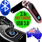 Wireless Bluetooth MP3 Player FM Transmitter Handsfree Car Kit USB SD AUX NEW