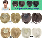 Women Synthetic Hair Top Replace Bang Fringe Hairpiece Clip in Hari Extensions