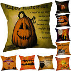 Bedroom Living Room Linen Sofa Pumpkin ghosts Cushion Cover  Pillow Cases Decor