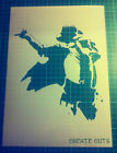 Michael Jackson singer iconic face reusable STENCIL for home wall interior decor